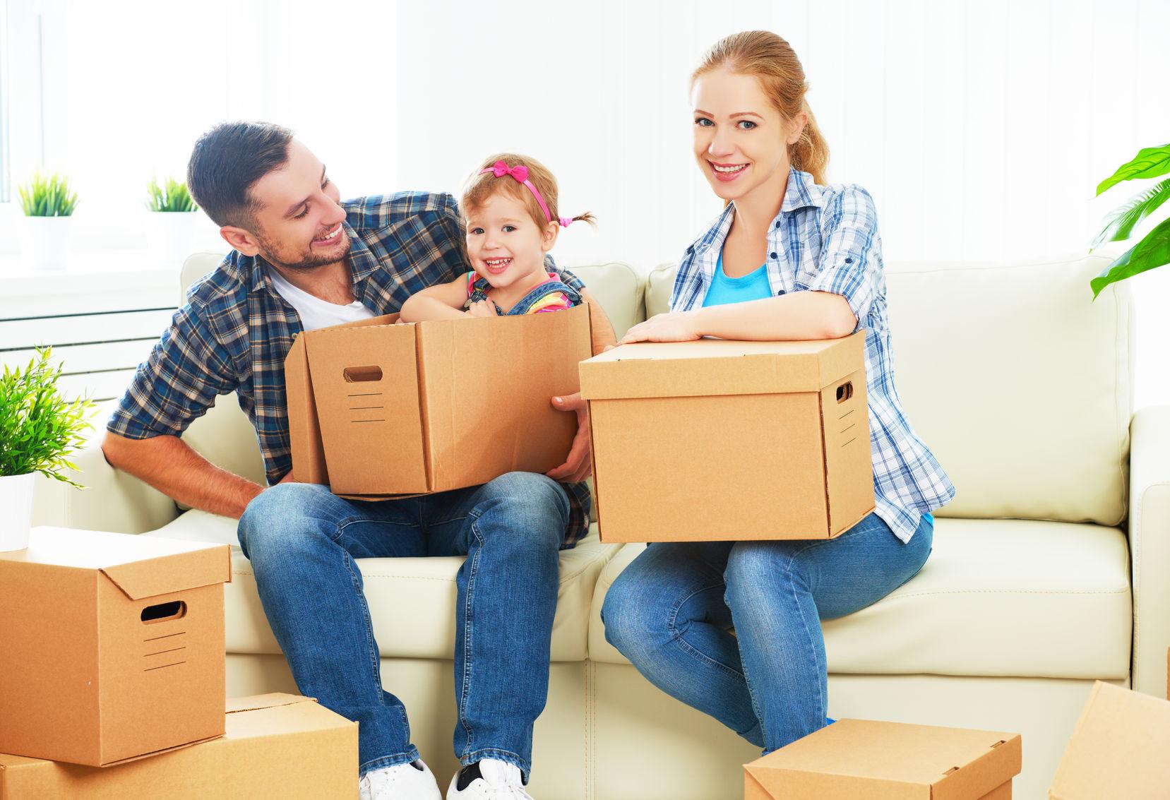 Дети и коробки фото