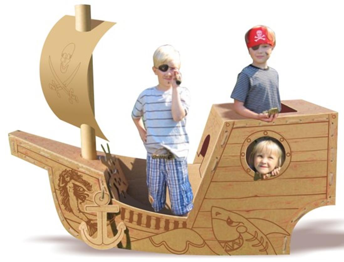 Как сделать корабль пиратский из картона своими руками