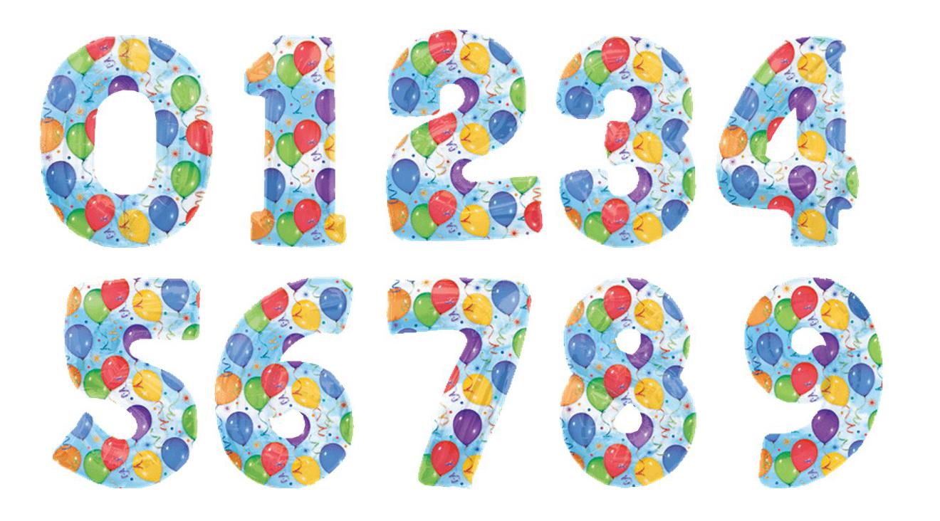 цифры картинки для детей цветные